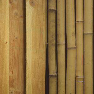 douglas en bamboe hout