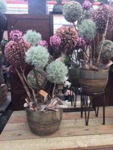 decoratie zijdebloemen