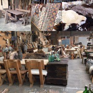 meubelen, natuursteen en vachten
