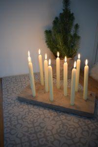 Houten kaarsenstandaard zelf maken