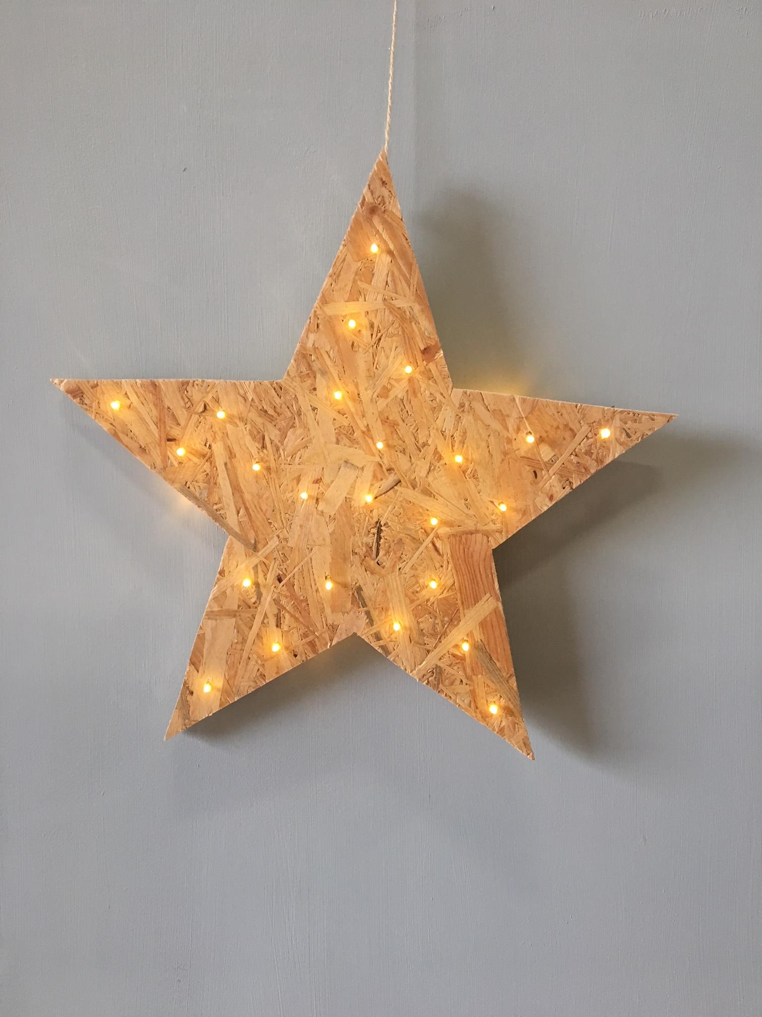 Doe het zelf projectje: ster met verlichting - Klus & Wooninspiratie